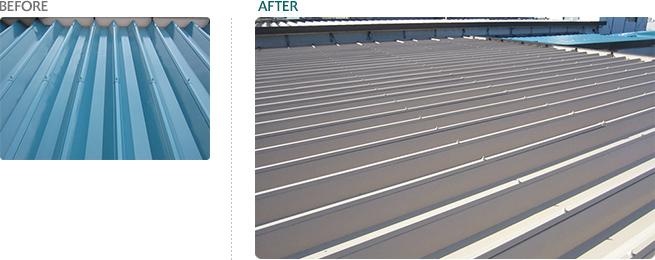 屋根遮熱 塗装工事