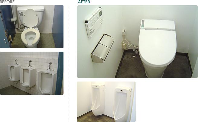 商業施設トイレ改修工事